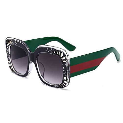 KCJKXC Marke Sonnenbrillen Big Frame Square Sonnenbrille Weibliche Unisex Berühmte Promi Brillen