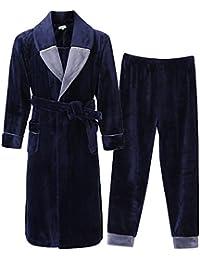 Clothing, Shoes & Accessories Brilliant Comte Herren Nachthemd Langarm 100% Baumwolle Grün Kariert 58 Sleepwear & Robes