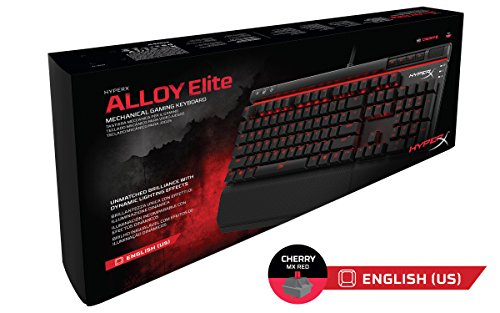 HyperX Alloy Elite Mechanical Gaming Keyboard, Cherry MX Red, Red LED (HX-KB2RD1-US/R1)