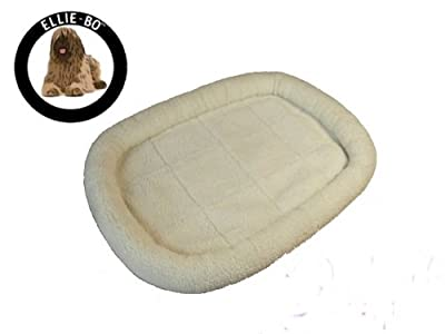 Ellie-Bo Faux Lambswool Cage and Carrier Mat Bed for Small, Medium, Large, Extra Large and XXL Dog Puppy Cages