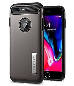 Spigen, Cover per iPhone 7Plus, Sottile, con cavalletto Integrato, Tecnologia a Cuscinetto Air Cushion ai Bordi, Custodia Protettiva composta da 2 Pezzi per iPhone 7Plus