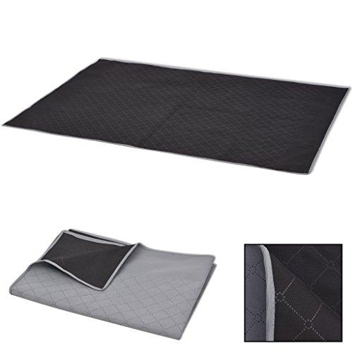 vidaXL Picknickdecke Grau und Schwarz 150x200 cm