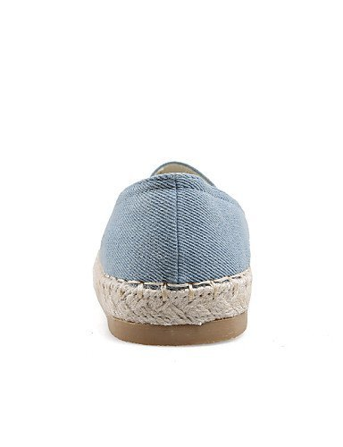 ShangYi gyht Scarpe Donna - Mocassini - Formale / Casual - Comoda / Punta arrotondata - Piatto - Denim - Blu Blue