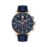 ساعة فيراري للرجال بمينا أزرق من السيليكون - 830621