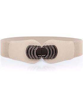 La moda retro correa elástica de viento decoran las mujeres visten cintura sello elástico