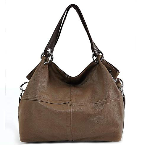 he Schultertasche Damen Leder Handtaschen Frauen Große Tasche Crossbody Bag Bolsa Damen Handtaschen, Grün - khaki - Größe: Large ()