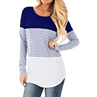 5c1062cc1f02a Sandwind Women Maternity T Shirt - Long Sleeve Striped Breastfeeding Top  Casual Nursing Baby Tops T