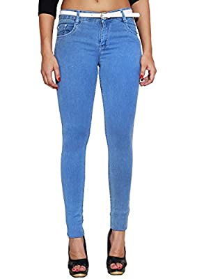 #MumbaiTrends ASABAs New Stretchable lycra soft Denim cotton jeans for Women in Slim Fit many colors Fashion wear by ASABA branded Best price. Many colors and plus sizes availaible
