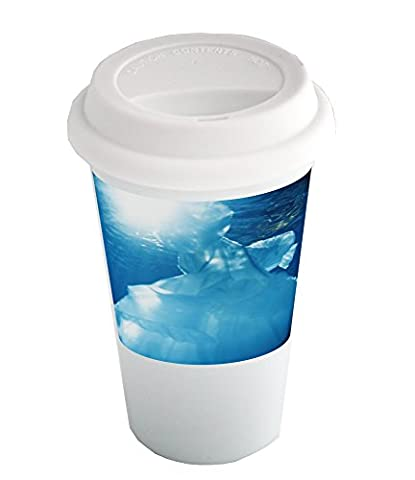 Coffee cup with A ball gown floating in water