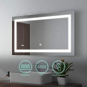 Badspiegel Mit Beleuchtung Und Uhr günstig online kaufen   Dein ...