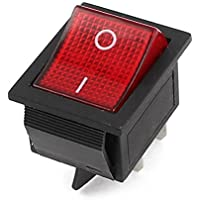 AC 250V 16A/125V AC 20A On/Off Pin 4Red Indicator DPST Rocker Switch