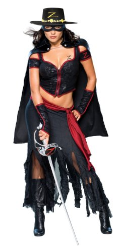 –Kostüm–Kostüm Erwachsene sexy lady (Lady Zorro-kostüm)