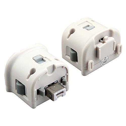 Prous 2 in 1 Wii Motion Plus Sensor Adapter, XW36 Spiel Zubehör für Wii Motion Sensor Extender Spiel Anhang für Fernbedienung - Weiß