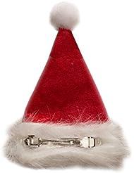 Haarspange Weihnachtsmütze Nikolausmütze Spange Santa Xmas Rot Mütze Nikolaus