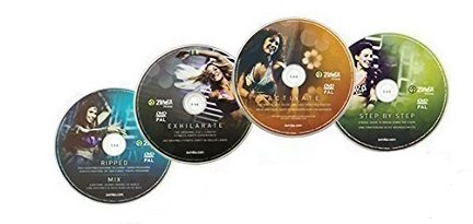 Zumba Fitness Zumba Exhilarate Body-Shaping-System, 4 DVD's Zumba Video Zumba Workout