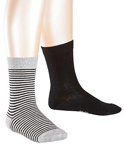 ESPRIT KIDS Jungen Socken Ringlet Doppelpack 2er Pack, Mehrfarbig (Black 3000), 23-26