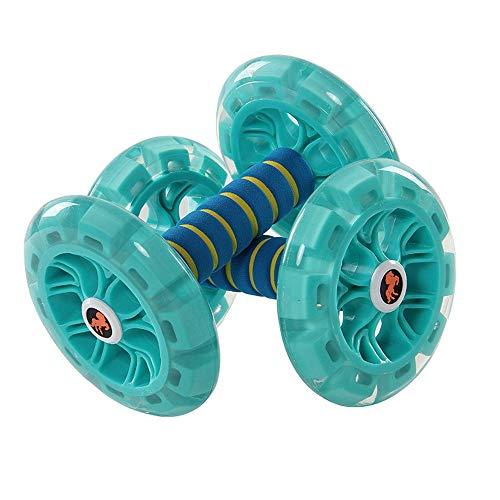 Bauchrad Abdominal Wheel Abdominal Wheel Riesige Fitness Roller Mute AB Gewichtsverlust Fitness Ausrüstung für Heim Fitnessstudio (Color : Blau, Size : -)