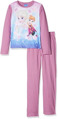 Disney 161426, pigiama bambina, rose/violet (white/mulberry 17-3014 tcx), 8 anni