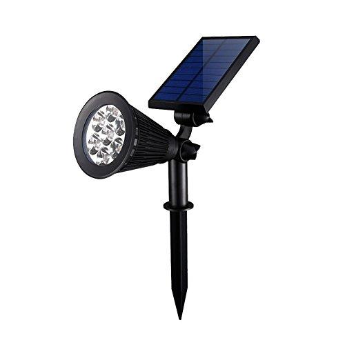 Cutogain 7LED Solar Lampe Projektor Farbe ändern Wireless Wasserdicht Licht Verstellbarer Spot für Outdoor Garten - Outdoor-spot-licht-solar