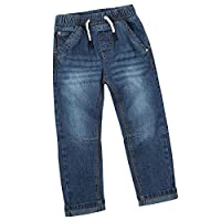 Minikidz Infant Town Boys 100% Cotton Demin Jeans with Pockets and Elasticated Waistband Dark 3-4