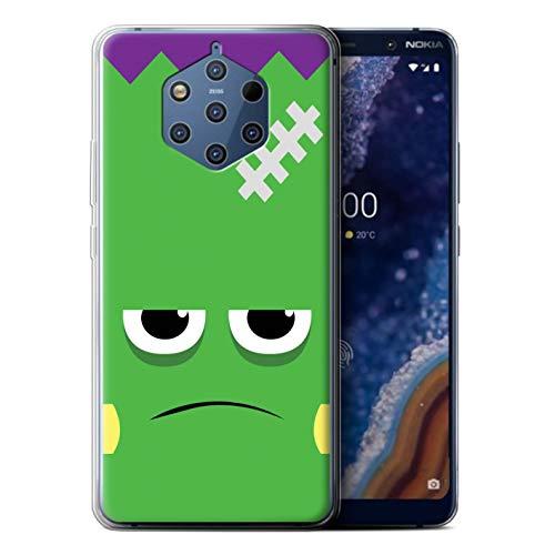 eSwish Gel TPU Hülle/Case für Nokia 9 PureView 2019 / Frankenstein Muster/Halloween Zeichen Kollektion (9 2019 Halloween)
