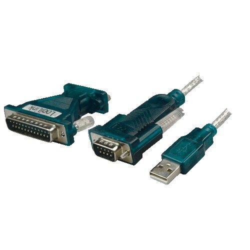 LogiLink UA0042A USB Adapter USB 2.0 zu Seriell Adapter grün (Rs232-zu-usb Stecker)