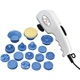 Ozomax BL-182-PR Pro Massage Apparatus with 16 Attachments (White)