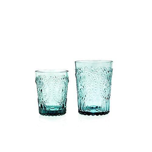 Saftglas Fleur de LYS Recycled Glas Fairtrade Ecoglas 300 ml (blau) ()