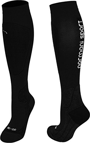 Coolmax Sportsocken / Kompressionsstrumpf normani® Competition- Kompressionsklasse Farbe Sport/Schwarz Größe 43/46
