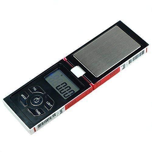 Trimming Shop Digitale Taschenwaage Tragbar, Leicht Professionell Multifunktionales Mini Maßstab 100g X 0.01g mit Back-Lit LCD Display für Schmuck