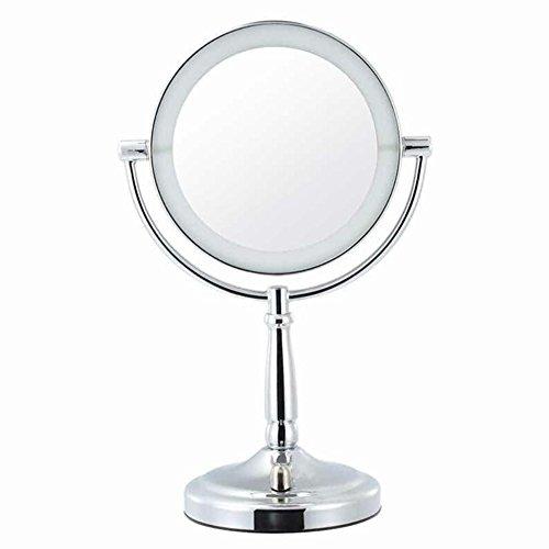 Ourdream Vanity Maquillage Miroir Portable Double Face Magnifier Rechargeables 360 º Rotary 7 Pouces Cosmétique