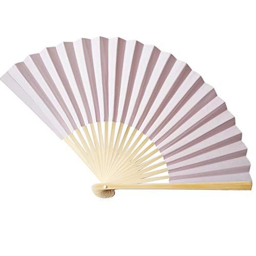 Preisvergleich Produktbild TianranRT Chinesisch Stil Hand Halten Fan Bambus Papier Falten Fan Party Hochzeit Dekor (E)