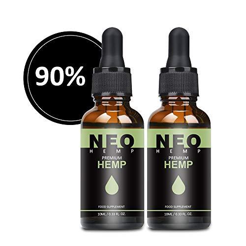 2 Pack Premium Zutaten natürliches Öl, Essential Öl Tropfen (90{bc6fcfbcbc3f94ff22b33a1530c7076e5e55ee4cad0ef9bd7c355377512a33bc} / 10ml)