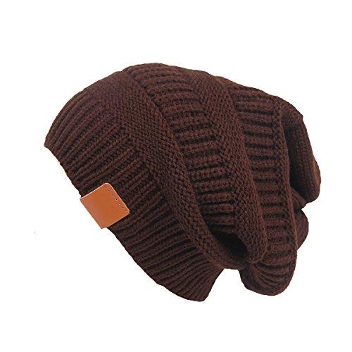 Butterme Arbeiten Sie Frauen Warm Chunky weiche Ausdehnungs Zopfmuster Schnee-Hut Thick Slouchy Übergroße Mütze Kappe (Navy (Hut Übergroßen)
