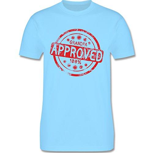 Großeltern - Grandpa approved - L190 Herren Premium Rundhals T-Shirt Hellblau