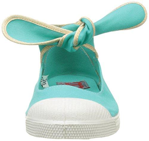 Bensimon - Tennis Flo Shinypiping, Basse Donna Turchese (Turquoise)