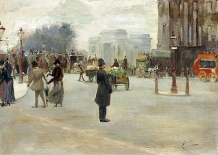 Albert Ludovici – Hyde Park Corner Kunstdruck (50,80 x 71,12 cm)