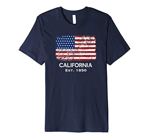 USA Flagge 4. Juli California T-Shirt -