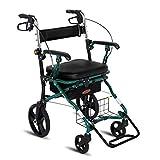 Einkaufswagen Supermarkt Einkaufswagen Einkaufswagen Vierrad-Fahrrad Rollator Leichte Falte Sitzplätze Tragfähigkeit 150 kg