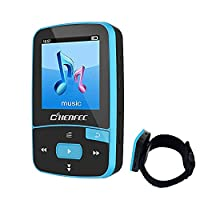 MP3 Player Bluetooth MP3 Clip ChenFec 8GB Digital Music Player Playback (Support up to 64GB) with Armband Sport MP3 Running Music Blue