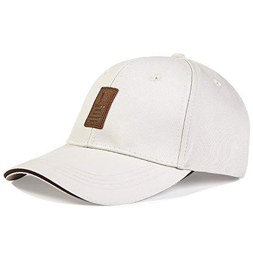 Loe 8 Farben Herren Golf Hut Basketball Baumwolle Baseball Cap hüte für männer und Frauen Klassische Sport Casual Plain Sonnenhut einfarbig einstellbare Baseball Cap (Color : Beige) -