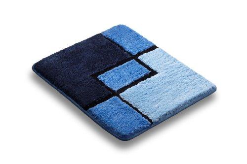 Vonella Badematte | Badteppich | GRÖßEN UND Farbauswahl | Partner (Blau, 60 x 50 cm Hänge WC)