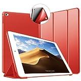 Custodia per iPad Air 2, VAGHVEO Ultra Sottile e Leggere [Auto Svegliati/Sonno] con Protezione Elevato Morbido TPU Soft Silicone Smart Cover Case per Apple iPad Air 2 (Modelli A1566 A1567), Rosso