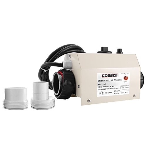 PhenixGa 50mm Réchauffeur Piscine 220V Piscine Thermostat Chauffage électrique pour Piscine 3KW...