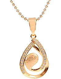 Ananth Jewels Heart Shaped Rose Gold Plated Pendant Necklace For Women - B073T3G1FW