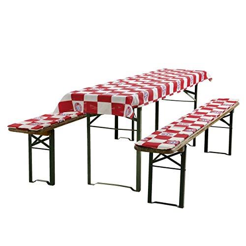 FC Bayern München Banca birreria/tavolo da birreria/imbottitura per panchine da-2panche, 1tovaglia FCB