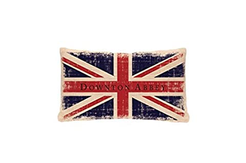 Heritage Lace Downton Abbey Downton Union Jack Pillow, 12 by 20-Inch, Natural by Heritage Lace