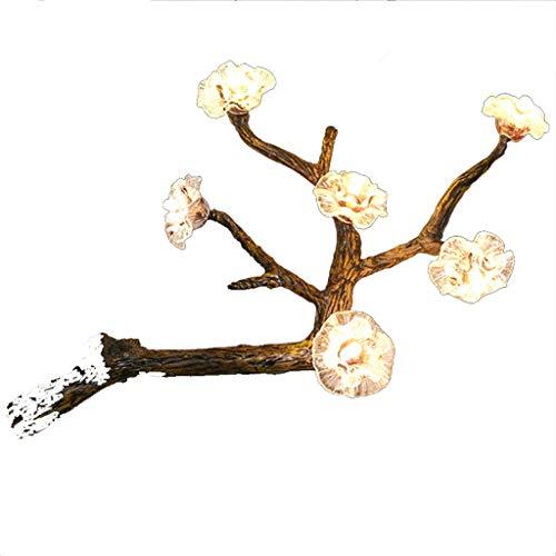Thor-yan lampada da parete a vento naturale modern pastoral classica personalità lampada da parete con camera da letto color prugna american west theme ristorante cafe box sala espositiva area ricreat