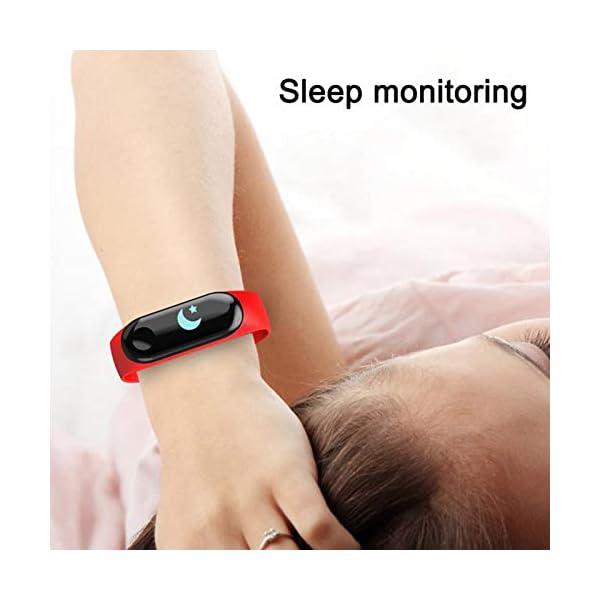 GULEHAY M3 Smart Fitness Tracker, Reloj de Actividad Impermeable con presión Arterial, Monitor de frecuencia cardíaca… 2
