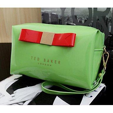 SUNNY KEY-Borsa a tracolla @ Donna Borsa a tracolla PVC Per tutte le stagioni Casual Rotondi Cerniera Verde Rosso Rosa , green blushing pink